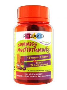 Pediakid Multivitamin Candies make it possible to bring to your children all the vitamins and minerals essential to their vitality.