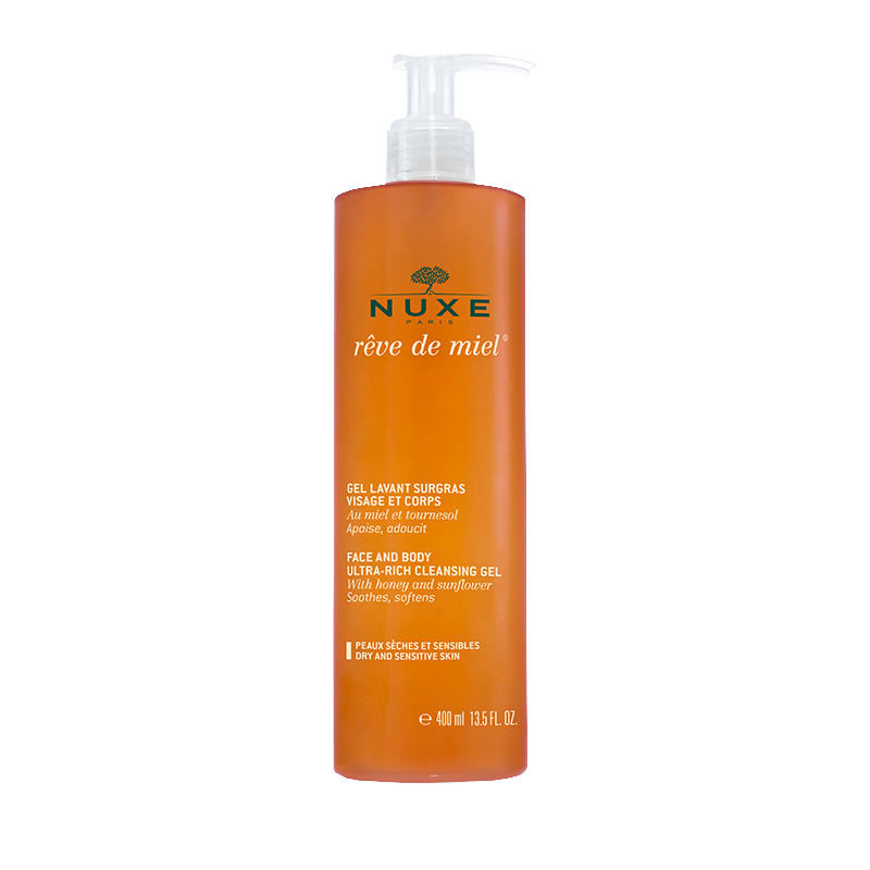 Protect its dry and sensitive skin with the frost washing overfat dream of honey Nuxe. A soothing and softening gesture for the whole family.