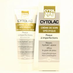 soin spécifique acné peaux à imperfections avec Cytolac